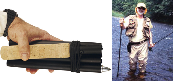 collapsible fishing sticks